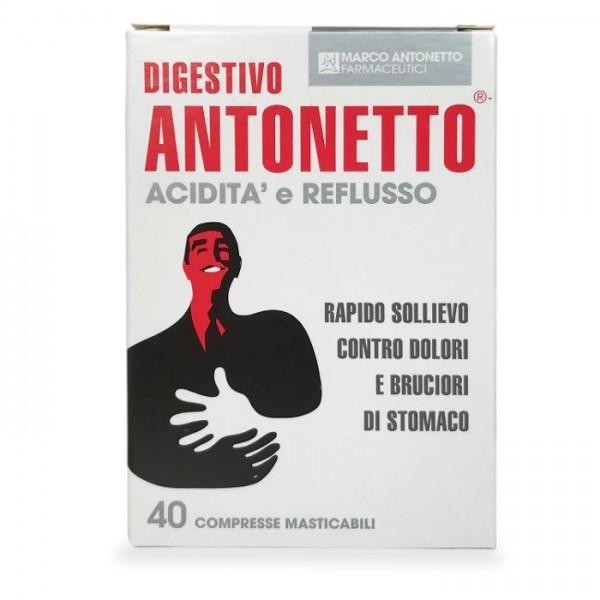 Digestivo Antonetto Acidità e Reflusso 40 Compresse